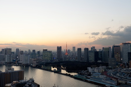 Sunset view of Tokyo  photo