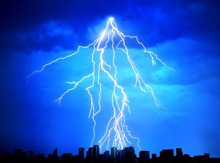 Strike of lightning photo