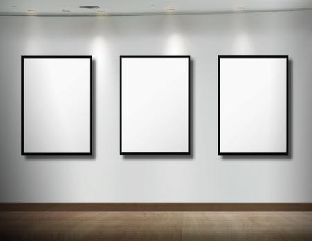 frames on white wall  Stock Photo - 9670500
