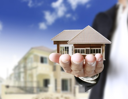 real business: house in human hands