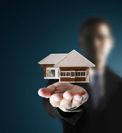 house in human hands Stock Photo - 9670499