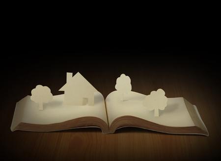 open houses: Open book  Stock Photo