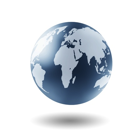 silver state: Earth Globe  Stock Photo