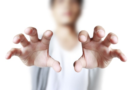 reaching out: hand