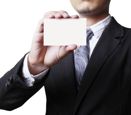 business card in a hand Stock Photo - 9724769