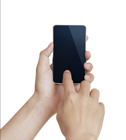 Mobile phone With hand Stock Photo - 9724729
