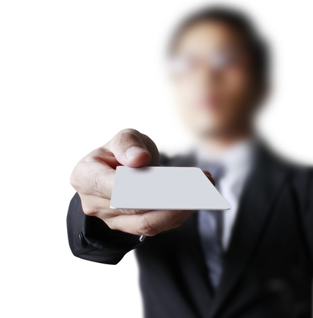 business card in a hand photo