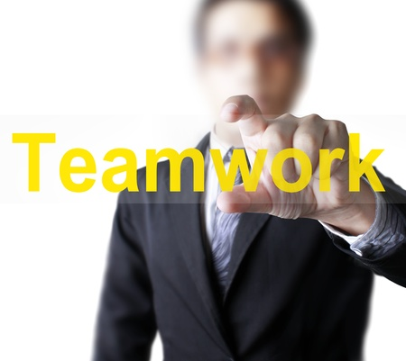 Hand and word Teamwork  Stock Photo - 9814783