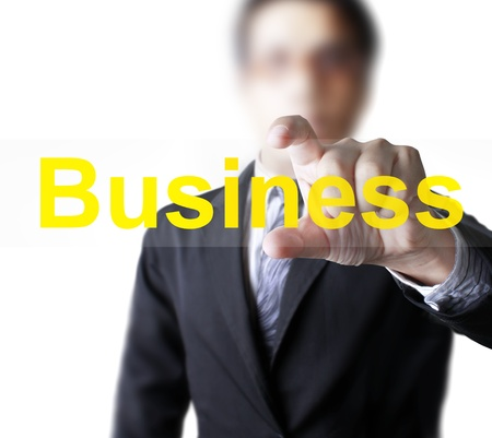 Hand and word Business  photo