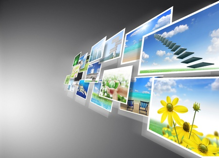 succession: images streaming  Stock Photo