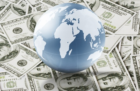 Globes money and busines  photo