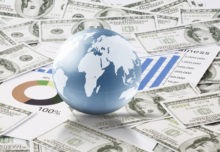 busines: Globes money and busines