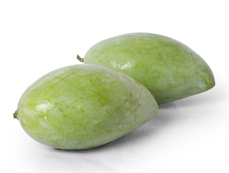 green mango: Mango on white background