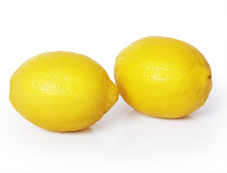 Lemon on a white background  photo