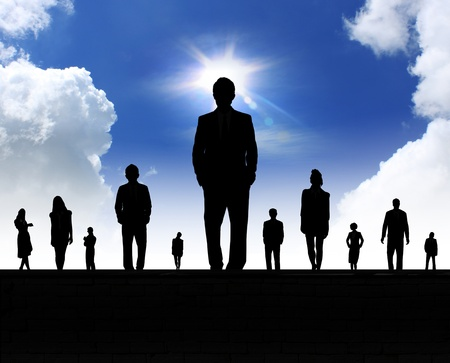 busy person: business people team