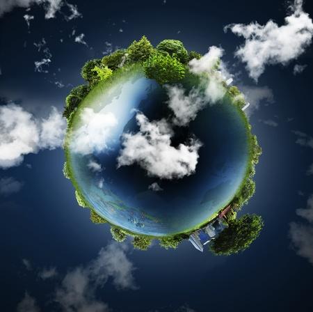 mediterranean forest: Earth Globe  Stock Photo