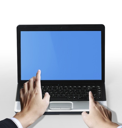 hands on the laptop keyboard  Stock Photo - 10046565