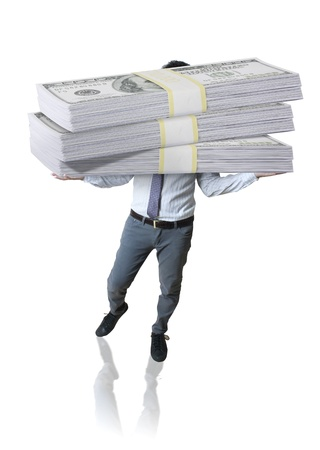 millionaire: Business and dollars  Stock Photo