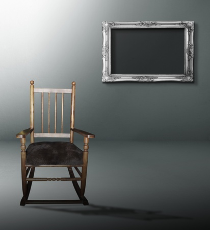 room with chairs and a wooden frame Stock Photo - 10046741