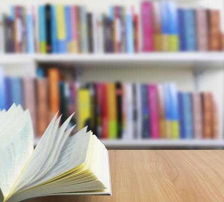 white shelf: Education book on table