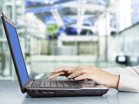 office use: Female hands on a laptop