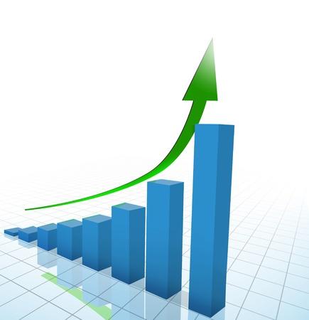 statistique: business chart, graphique Banque d'images