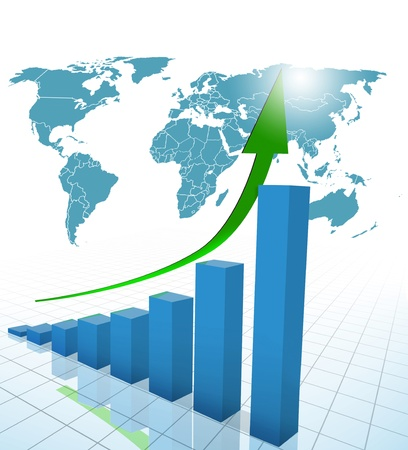 business chart, graph  Stock Photo - 10645783