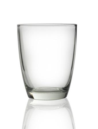 verre: verre isol� sur un fond blanc Banque d'images