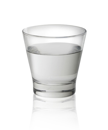 glass half full: Glass of water isolated on white background