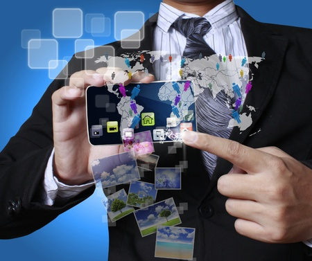 Touch screen mobile phone Stock Photo - 10784197