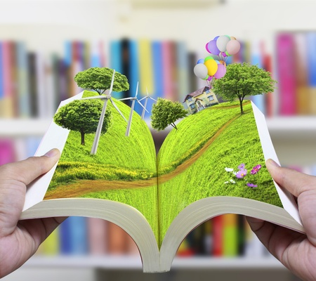 open book of nature  Stock Photo