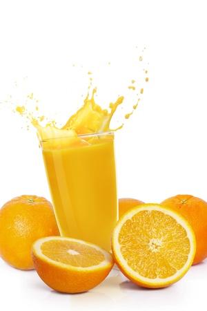 verre de jus d orange: le jus d'orange Banque d'images