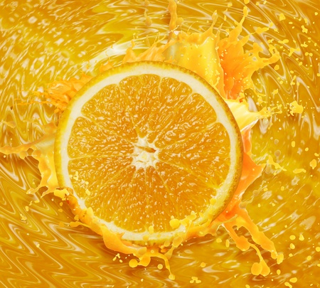 Orange juice splashing Stock Photo - 10784269