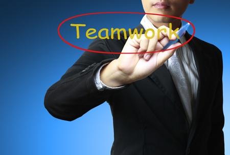 Hand and word Teamwork photo