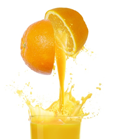 orange juice: orange juice  Stock Photo