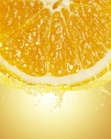 Orange juice splashing  photo