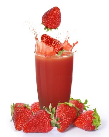 vaso de jugo: Jugo de fresa