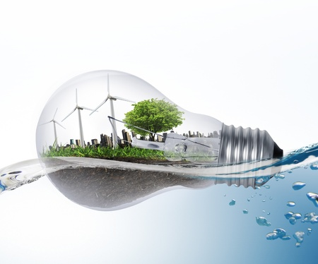 sustainable energy: Idea ,light bulb