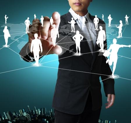 networking people: estructura de red social Foto de archivo