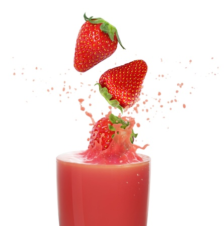 fruit shake: Strawberry juice