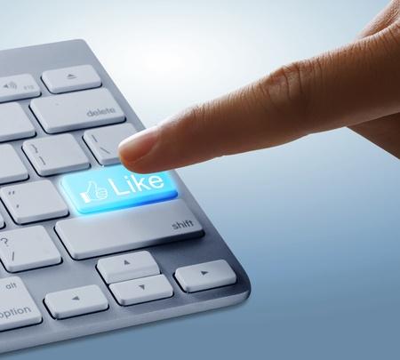 Fingers to keyboard photo
