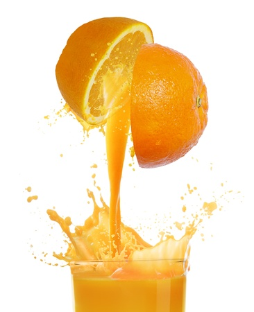 orange slices: orange juice  Stock Photo