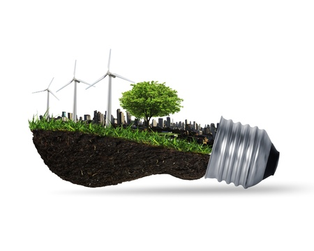eco innovation: Idea ,light bulb