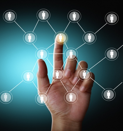 social net: social network structure Stock Photo