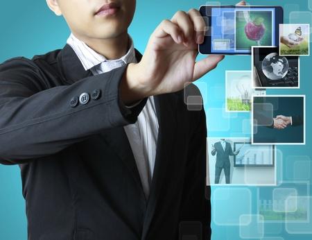 ringtones: Touch screen mobile phone  Stock Photo