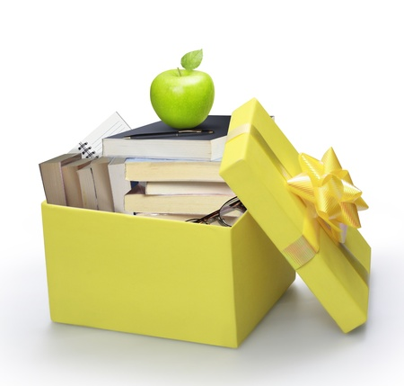 open yellow gift box  Stock Photo - 11709515