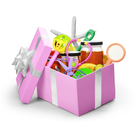 toy box: opened gift box