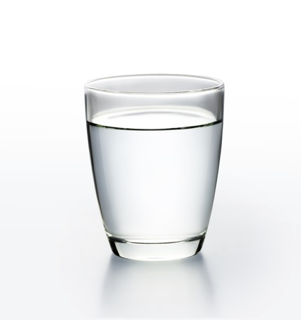 dehydration: Glass with water