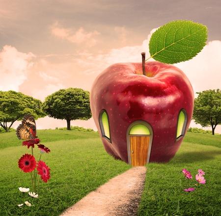 art door: apple house