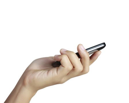 Businessman connection touch screen mobile Stock Photo - 12522130